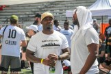 Several hundred youths attended the 2018 Hayes Pullard Football Camp in South Los Angeles. Pullard, currently a linebacker for the Los Angeles Chargers, attended nearby Crenshaw High School and Southern California (USC) as a collegiate athlete. Former Trojan Silas Redd and NFL stars Adoree Jackson (Tennessee Titans) and Marqise Lee (Jacksonville Jaguars) came out to support Pullard. Photo by Dennis J. Freeman for News4usonline