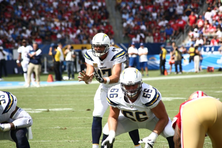 Chargers and 49ers