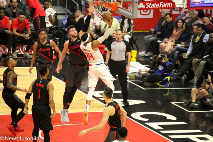 NBA basketball-Portland versus Clippers n