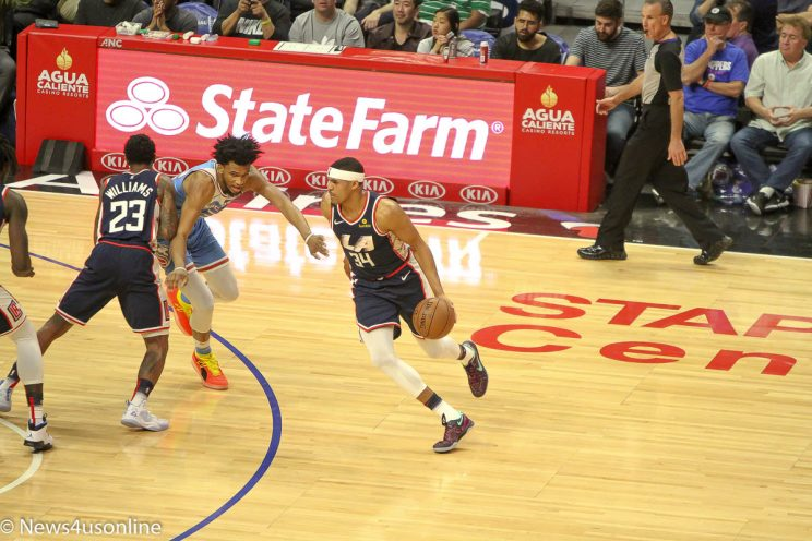 NBA action between the Los Angeles Clippers and Sacramento Kings