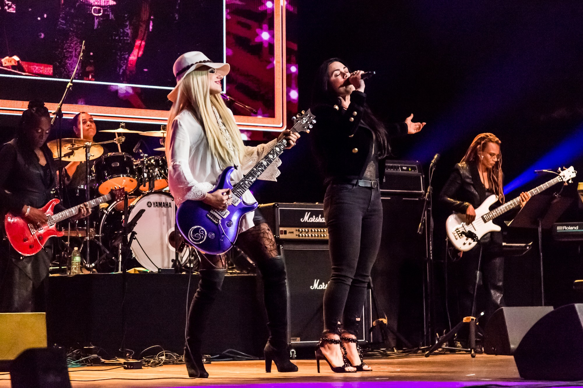 Orianthi Vanessa Amorosi Rock Sugah photo credit Andie Mills