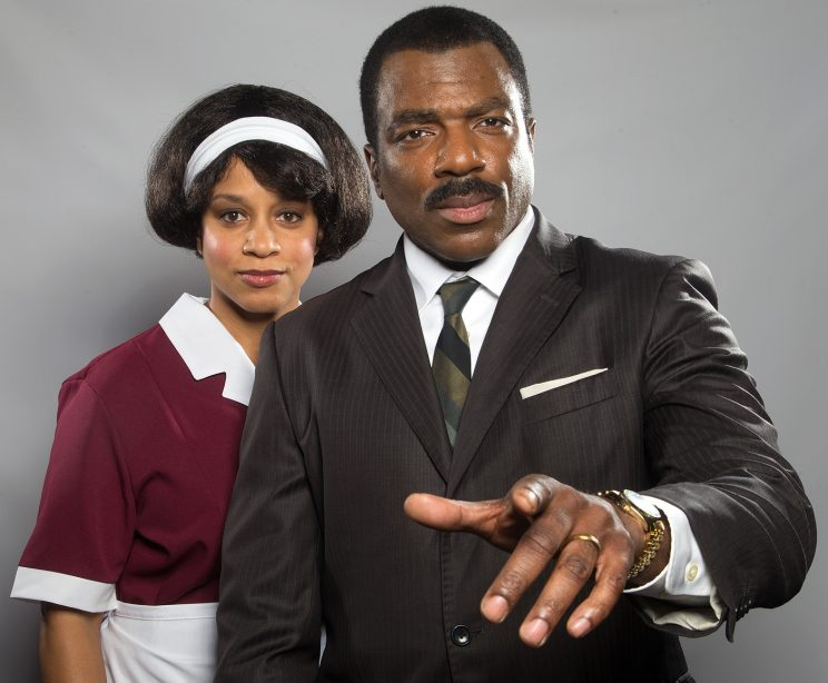 CAROLYN RATTERAY (as Camae) and GILBERT GLENN BROWN (as Dr Martin Luther King Jr). Photo by Aaron Batzdorff