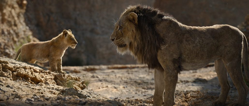 """Young Simba and Mufasa in Disney's """"The Lion King."""""""