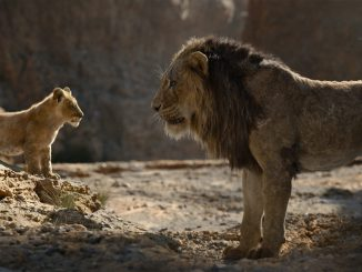 "Young Simba and Mufasa in Disney's ""The Lion King."""