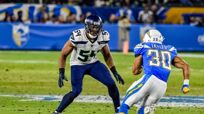 Bobby Wagner and Seattle Seahawks play the Los Angeles Chargers