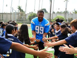 Los Angeles Chargers community event in Inglewood