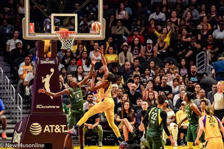 Sparks beat Storm WNBA