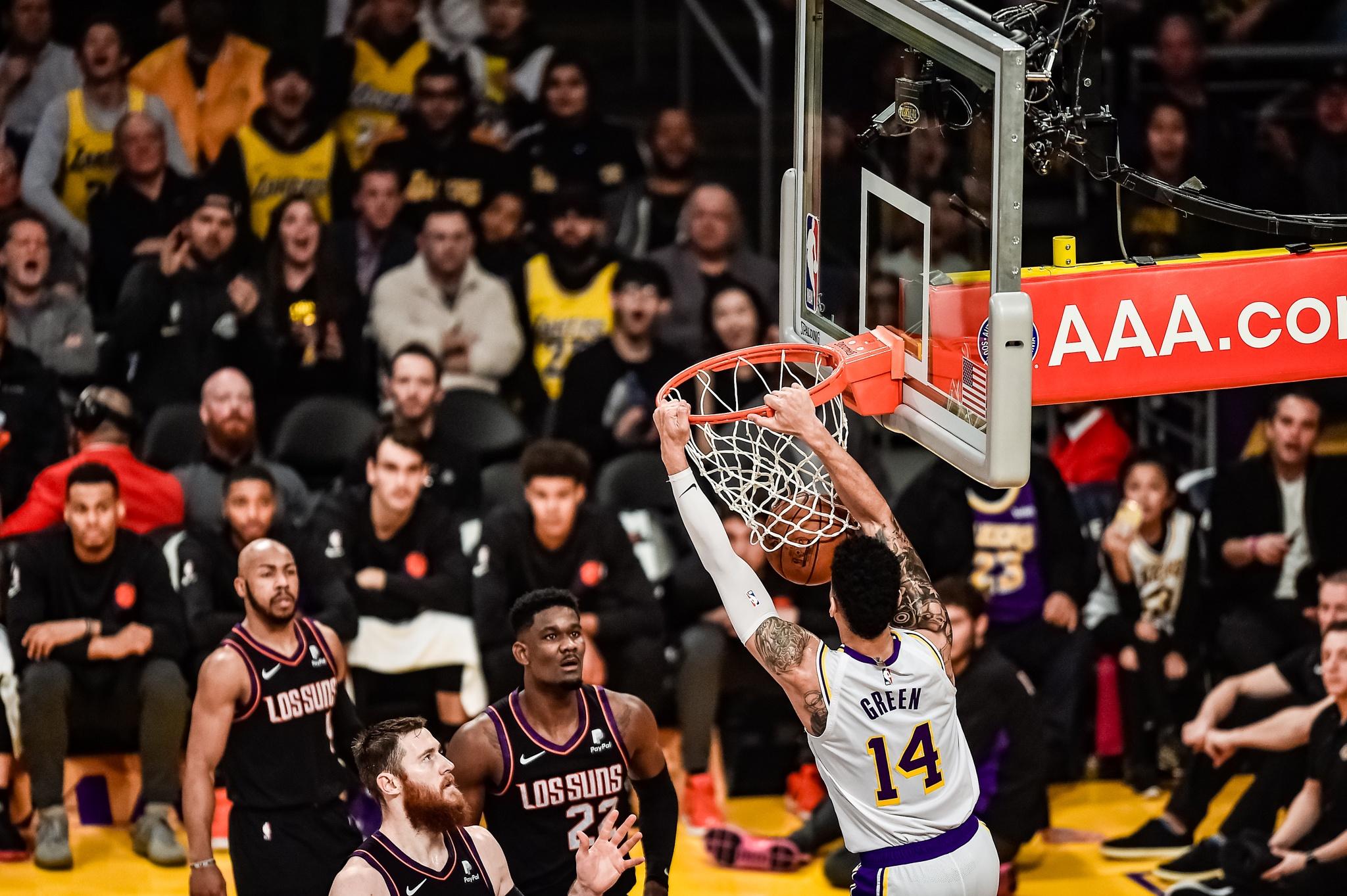 Los Angeles Lakers guard Danny Green