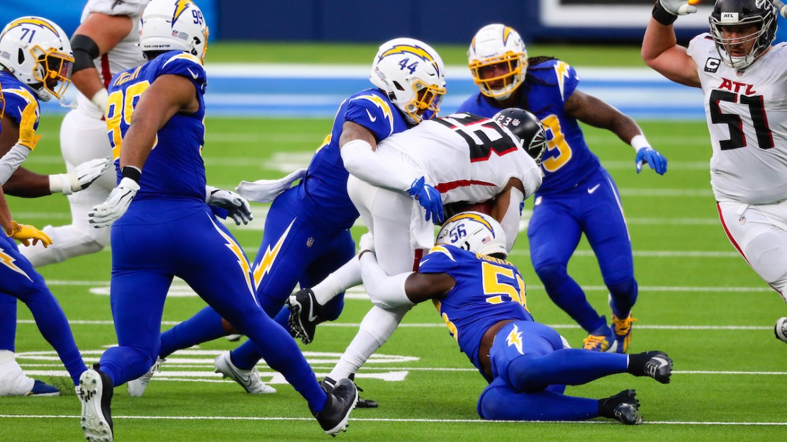 Chargers defeat Falcons, 20-17
