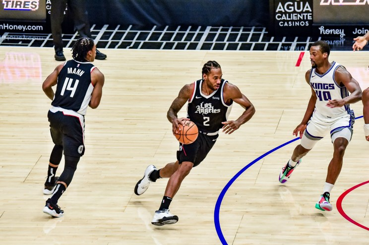 Los Angeles Clippers forward Kawhi Leonard (2) is having a stellar second season with the ballclub. Photo by Mark Hammond/News4usonline