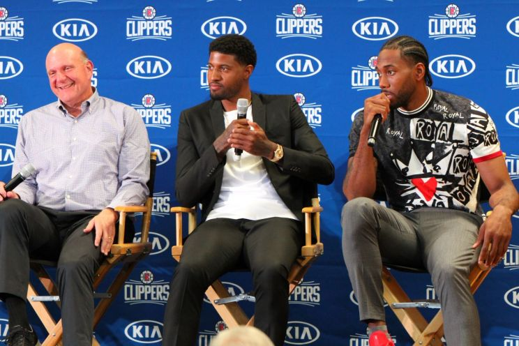Los Angeles Clippers press conference for Kawhi Leoanrd and Paul George