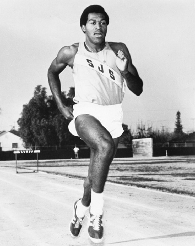 Lee Evans became the first person to break th 44-seconds barrier in the 400 meters. Photo credit: San Jose State Athletics