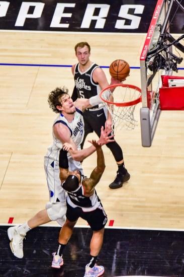 June 6, 2021-The Mavericks inside game was tough to handle. Photo credit: Mark Hammond/News4usonline