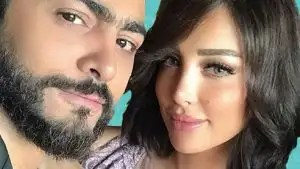 Tamer Hosni and his wife