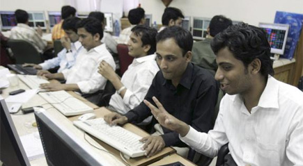 Sensex posts biggest gain of the year, up 434 pts