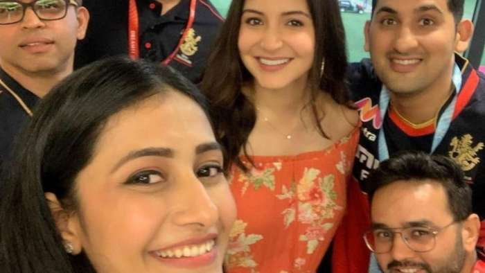 Anushka Sharma cradles baby bump in new picture taken after RCB win
