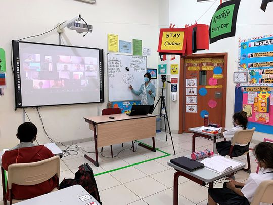 COVID-19: Teachers in UAE try to balance in-class and at-home students