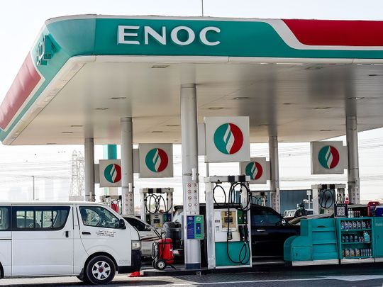 How to report minor traffic accidents in Dubai at Enoc stations?