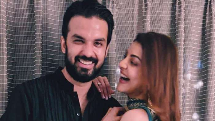 Kajal Aggarwal treats fans with first photo posing with beau Gautam Kitchlu ahead of their wedding