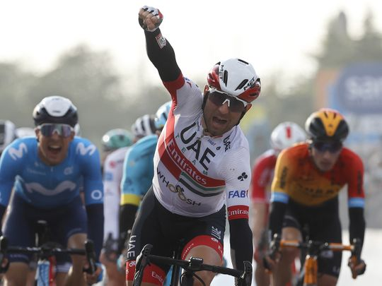 Team UAE Emirates' Ulissi clinches victory on Stage 13 of Giro d'Italia