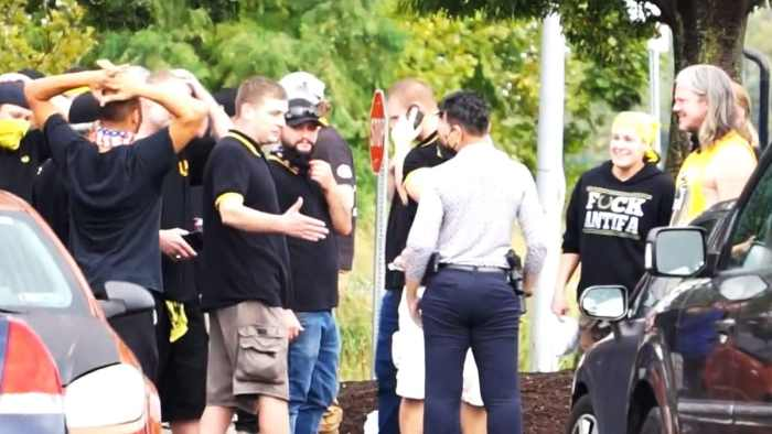 Video Exposes Proud Boys and 'Extra-Friendly' Philly Cops