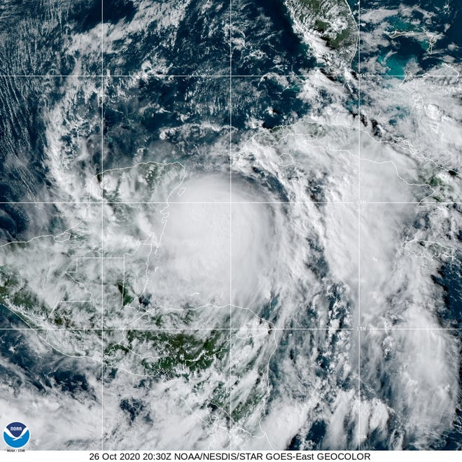 Zeta strengthens into a hurricane before hitting Mexico; US landfall expected Wednesday