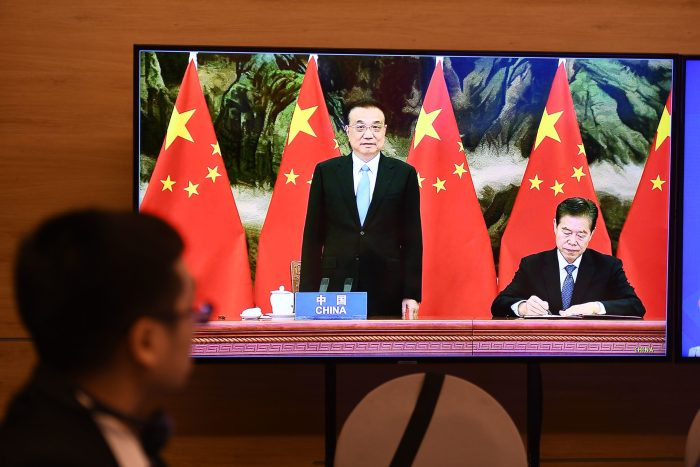 Chinese state media on the signing of world's largest trade deal