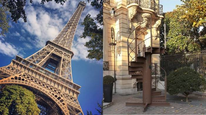 Section of Eiffel Tower's original staircase up for sale; would you like to buy?