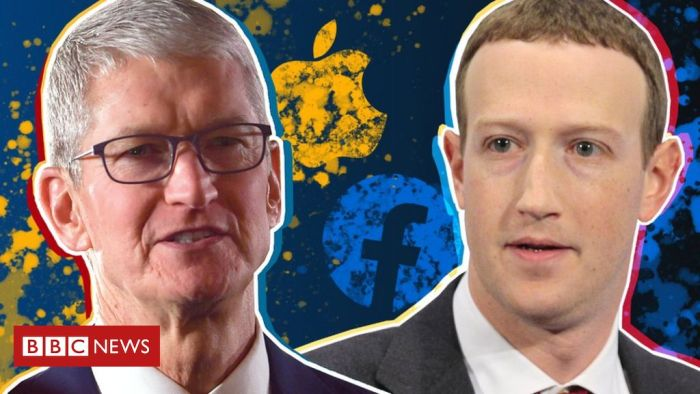 Facebook pours fuel on Apple privacy row
