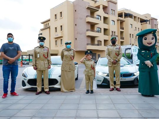 Six-year-old Dubai boy gets a surprise visit and gifts from the police