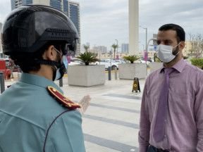 Smart helmets come in handy for Ajman Police to fight against COVID-19