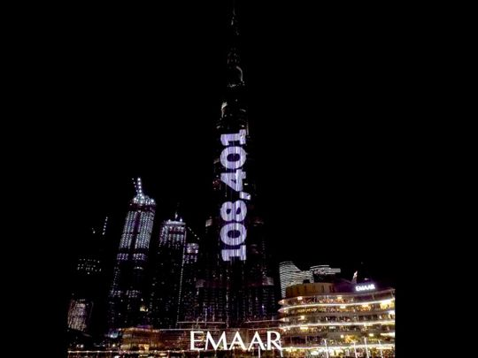 UAE towers light up to honour leaders and frontline workers for COVID-19 vaccine campaign