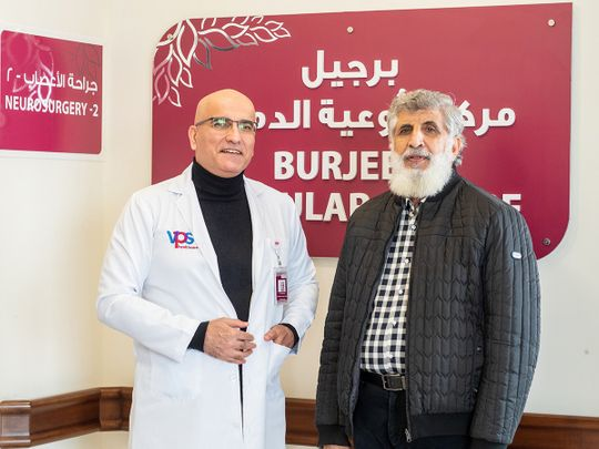 Doctors at Burjeel Hospital in Abu Dhabi perform life-saving surgery to prevent aneurysm rupture