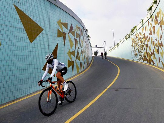 In pictures: Cycling underpass at Dubai's Al Qudra designated as Houbara Tunnel