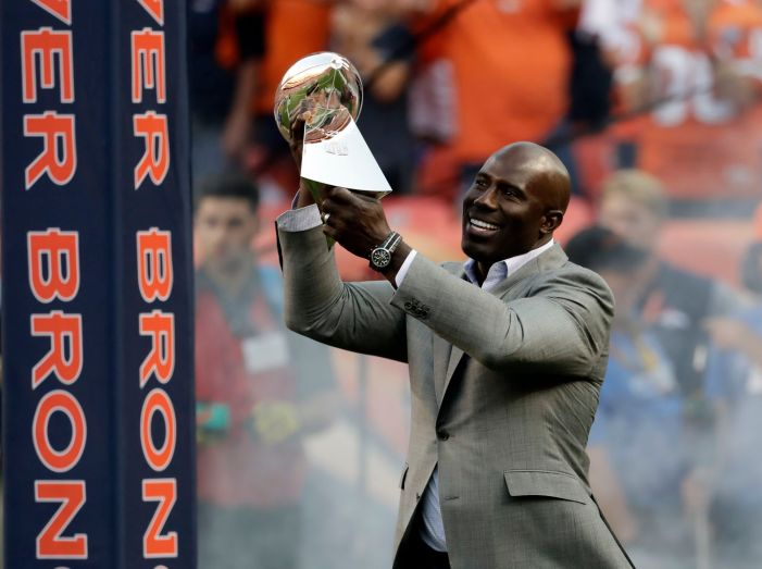 NFL Hall of Famer Terrell Davis looks to score a touchdown with his new water launch