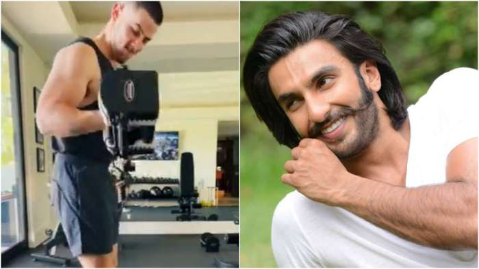 Ranveer Singh teases 'Jiju' Nick Jonas for flaunting 'Dolle-Sholle' in workout video