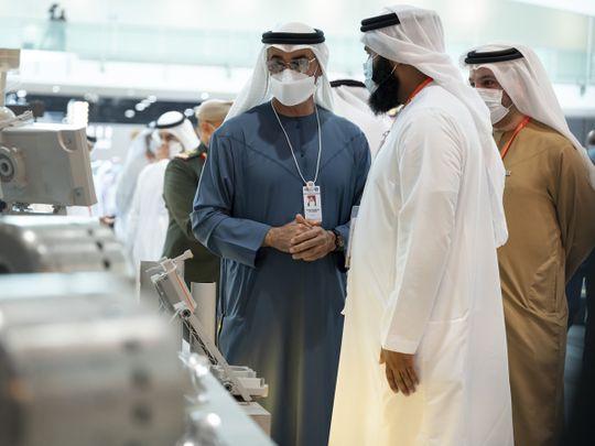 Sheikh Mohamed tours national pavilions at IDEX 2021
