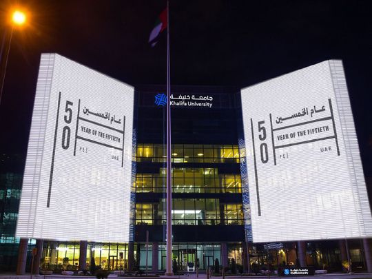 Abu Dhabi lights up in celebration of Year of the 50th