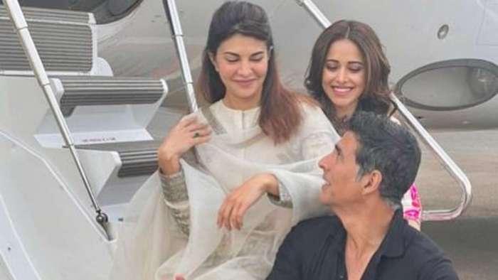 Akshay Kumar, Jacqueline Fernandez, Nushrratt Bharuccha off to Ayodhya for mahurat shot