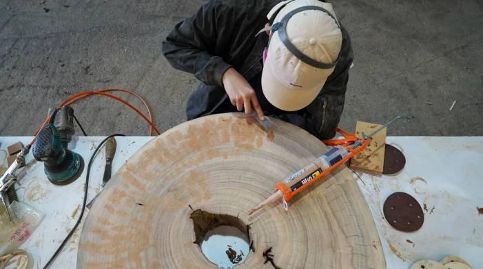 Not all deadwood: Furniture fashioned from Hong Kong tree waste
