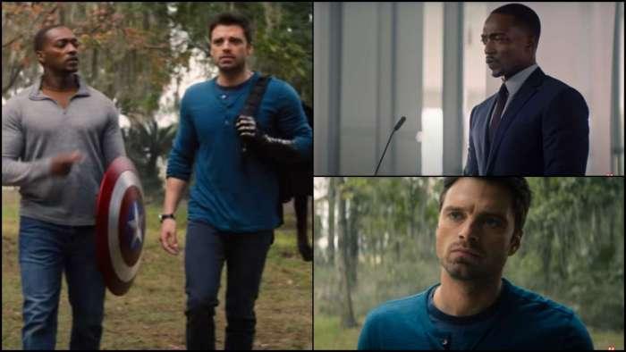 Sam Wilson trains with Captain America shield