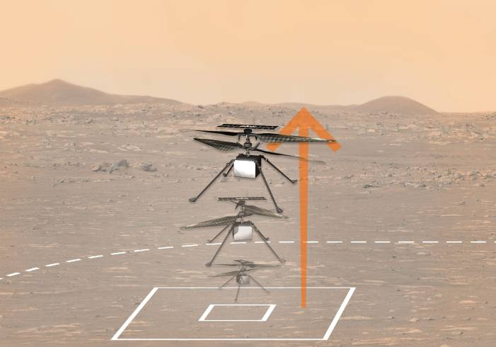 As NASA Perseverance rover watches, Ingenuity helicopter makes first successful powered flight on Mars