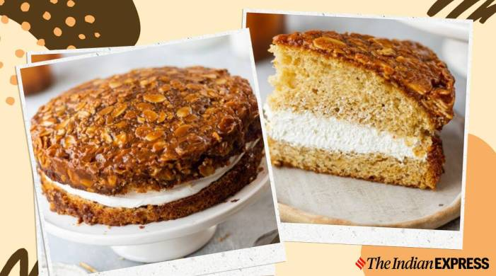 Hosting an afternoon tea party? Treat your friends to this caramelised almond vanilla cake