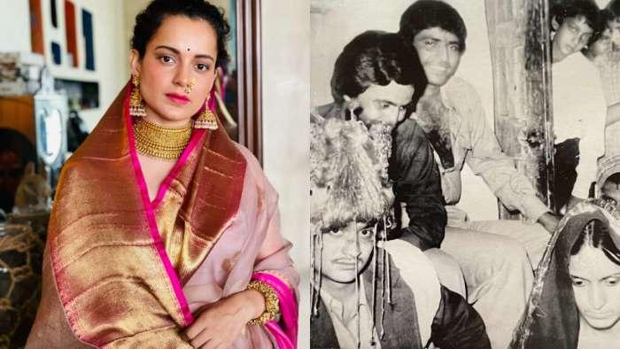 Kangana Ranaut celebrates parents' wedding anniversary with rare throwback photo, reveals 'they had a raging affair'