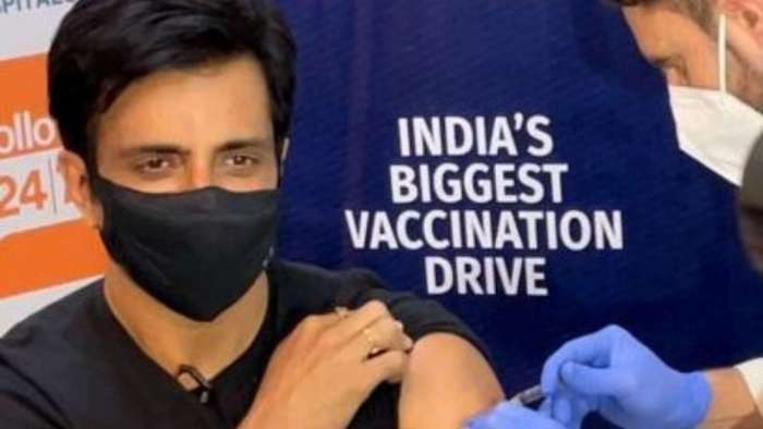 Sonu Sood receives first shot of COVID-19 vaccine, launches 'Sanjeevani' to increase awareness about vaccination