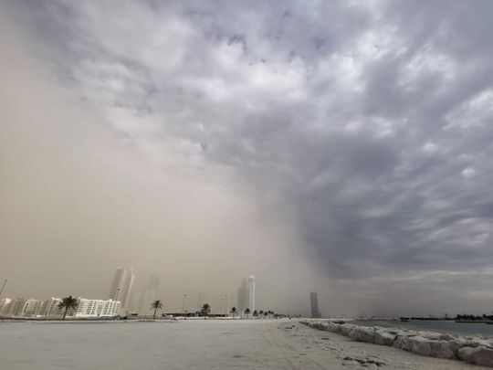 UAE: Windy, dusty, partly cloudy weather in Dubai and Sharjah, heavy rains expected in parts of Abu Dhabi, Fujairah and Ras Al Khaimah