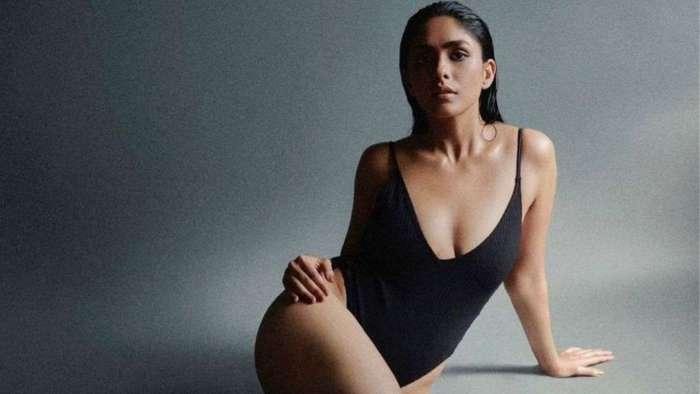 'Toofaan' star Mrunal Thakur sizzles in HOT black monokini with plunging neckline