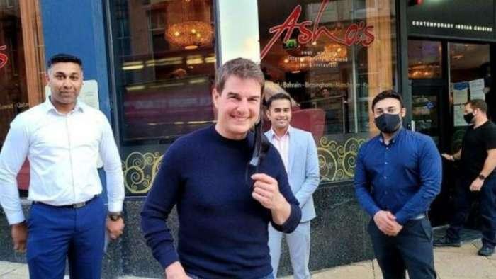 VIRAL! Tom Crusie visits Asha Bhonsle's fine dining restaurant in Birmingham, legendary singer shares pic