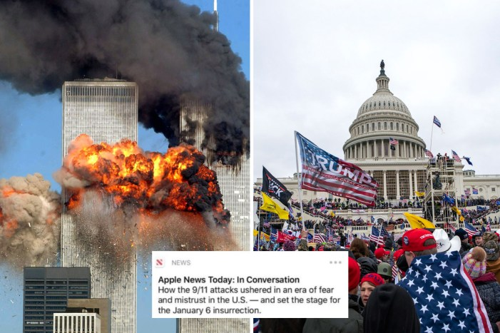 Apple slammed for 9/11 tribute comparing attack to Capitol riot