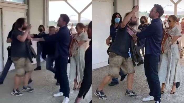 Ben Affleck pushes aggressive fan trying to click photo with Jennifer Lopez